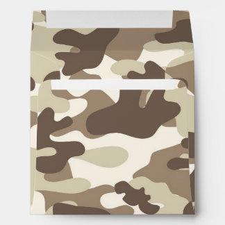 Brown Camo Design Envelope