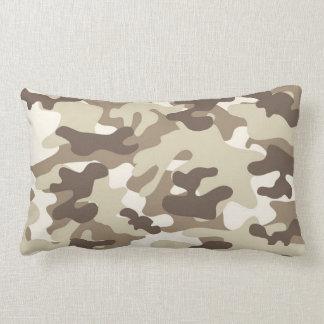 Brown Camo Design Throw Pillow
