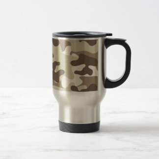 Brown Camo Design Travel Mug