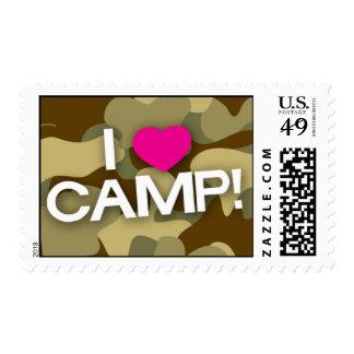 Brown Camo I LOVE CAMP! Stamp
