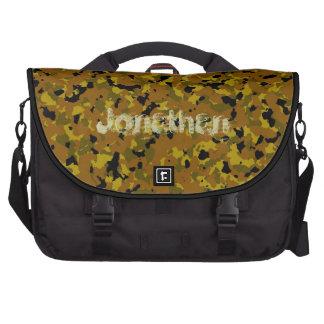 Brown Camo Laptop Bag Template