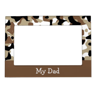 Brown Camo Magnetic Picture Frame
