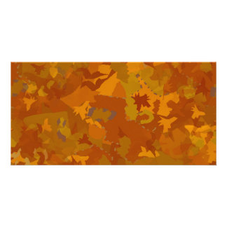 brown camo oak color pattern collage card