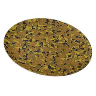 Brown Camo Plate