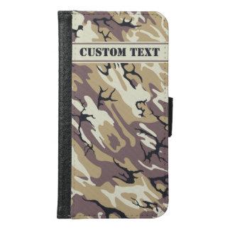 Brown Camo Smartphone Wallet w/ Text