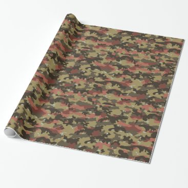 Brown Camo Texture Wrapping Paper