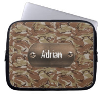 brown  camouflage army computer sleeve