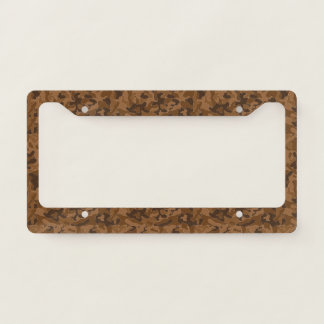 Brown Camouflage. Camo your License Plate Frame
