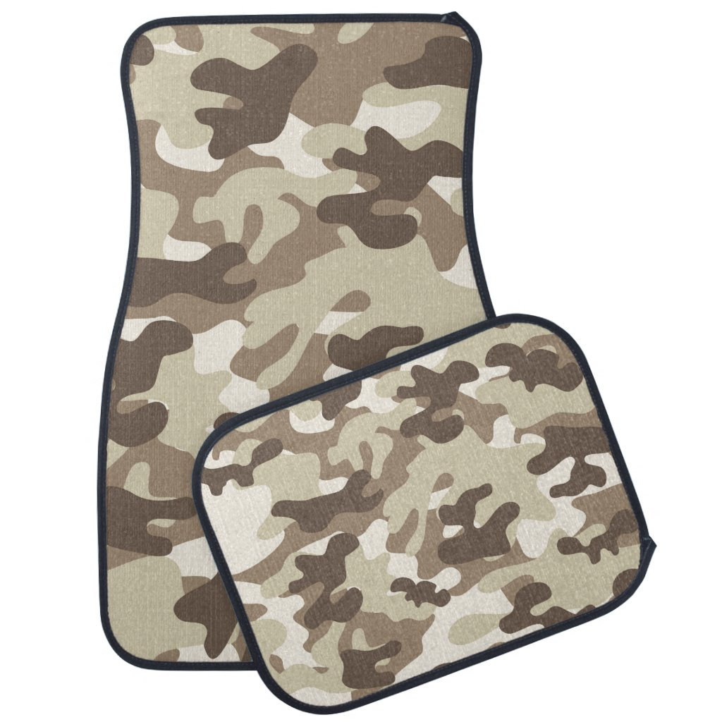 Brown Camouflage Car Mats