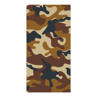 Brown Camouflage Card