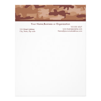 Brown Camouflage Custom Stationery