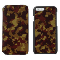 Brown Camouflage iPhone 6/6s Wallet Case