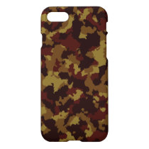 Brown Camouflage iPhone 7 Case