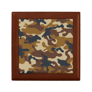 Brown Camouflage Jewelry Box