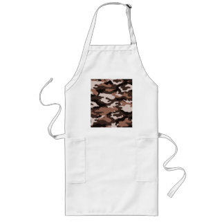 Brown camouflage long apron
