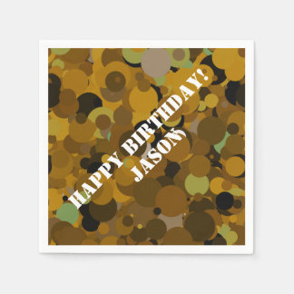 Brown Camouflage Disposable Napkins