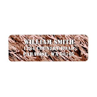 Brown Camouflage Return Address Label