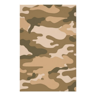Brown Camouflage Scrapbook Crafting Paper