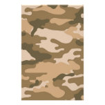 Brown Camouflage Scrapbook Crafting Paper Customized Stationery