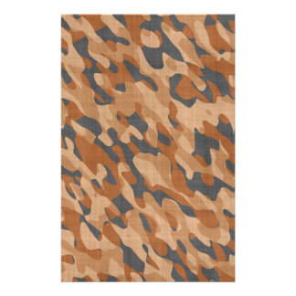 Brown Camouflage Stationery