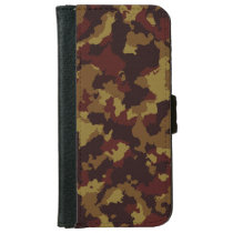 Brown Camouflage Wallet Phone Case For iPhone 6/6s