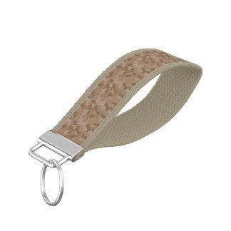 Brown Camouflage Wrist Keychain