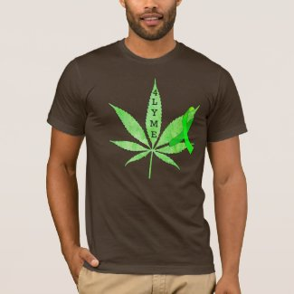 brown Cannabis 4 Lyme Disease Mens Shirt