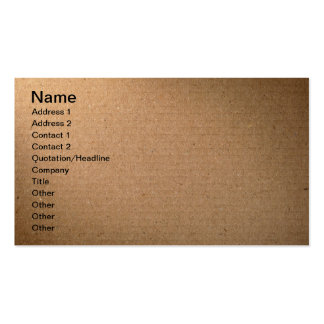 Brown Cardboard Texture For Background Business Card Templates