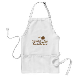 Brown Carolina Girl Best in the World Adult Apron