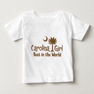 Brown Carolina Girl Best in the World Baby T-Shirt