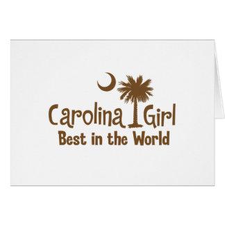 Brown Carolina Girl Best in the World Card