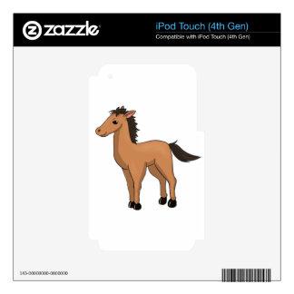Brown Cartoon Horse iPod Touch 4G Skin
