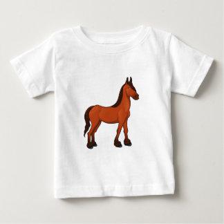 Brown Cartoon Horse T Shirt