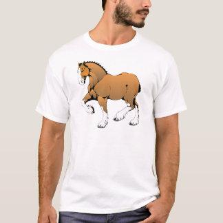 Brown Cartoon Horse Trot T-Shirt