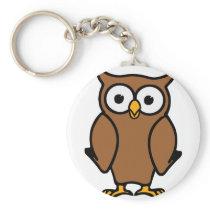 Brown Cartoon Owl Keychain