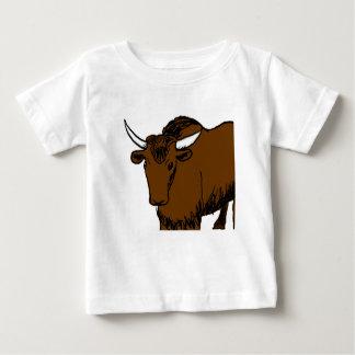 Brown Cartoon Yak Baby T-Shirt