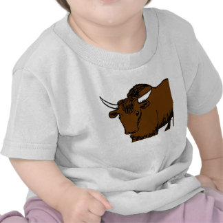Brown Cartoon Yak Tee Shirts
