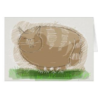 Brown cat card