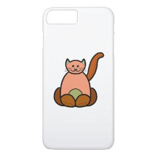 Brown cat cartoon iPhone 7 plus case