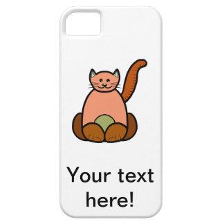 Brown cat cartoon iPhone SE/5/5s case