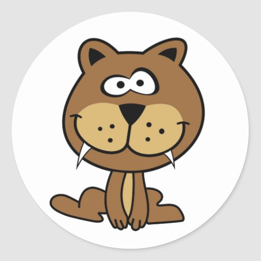 brown cat funny cartoon animation smile sticker