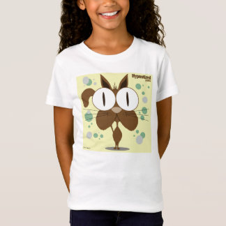 Brown Cat Girls' Bella Fitted Babydoll T-Shirt