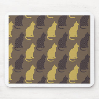 Brown Cat Pattern Seamless Design Mouse Pad