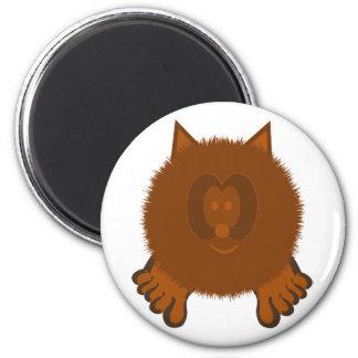 Brown Cat Pom Pom Pal Magnet
