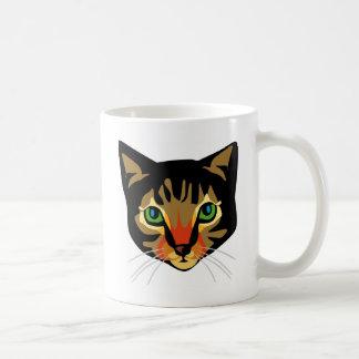 Brown Cat with Green Eyes Coffee Mug