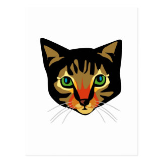 Brown Cat with Green Eyes Postcard