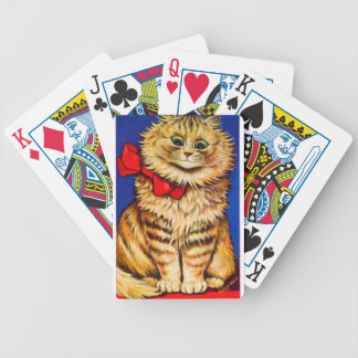 Brown Cat With Red Ribbon (Vintage Image) Card Decks