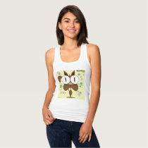 Brown Cat Women's Slim Fit Racerback Tank Top
