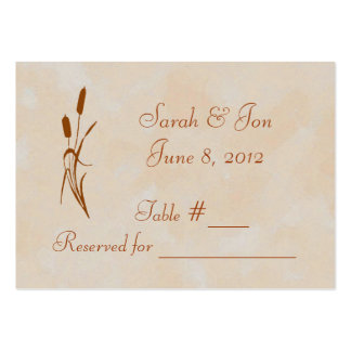 Brown Cattail Wedding Table Place Card Large Business Cards (Pack Of 100)