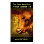 Brown Cattle  for  Beef Ranch or Farm Double-Sided Standard Business Cards (Pack Of 100)